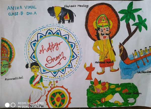 Anika Vimal - Drawing Competition (Onam) Second Runner Up-Cat II