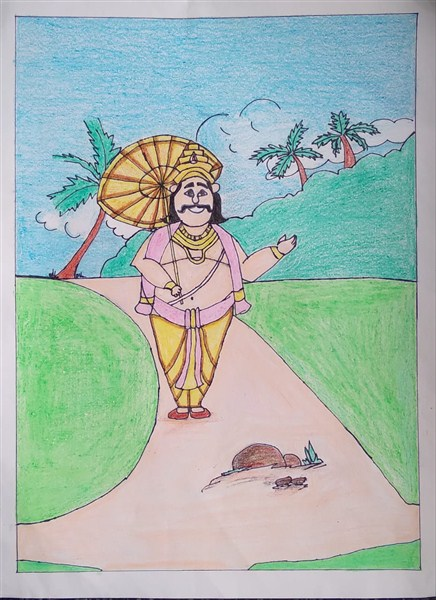 Saira P R - Drawing Competition (Onam) First-Cat II