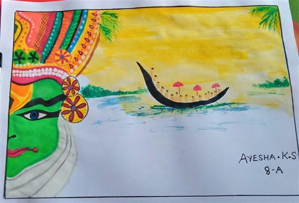 Ayesha K S 8 A-1st Prize(Class 6,7,8)